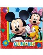 20 Serviettes en papier Mickey Mouse™ 33 x 33 cm