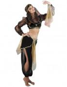 Déguisement danseuse orientale noir et or femme