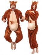 Déguisement kangourou marron adulte