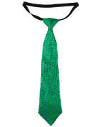 Cravate à sequins verts adulte