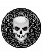 8 Assiettes carton Tête De Mort Halloween