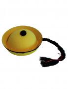 Chapeau chinois jaune avec tresse