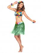 Jupe hawaïenne courte verte adulte