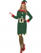 Déguisement elfe verte femme Noël