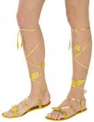 Sandales dorées adulte