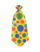 Cravate à pois clown adulte