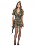 Déguisement militaire robe courte femme