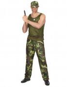 Déguisement militaire vert kaki homme