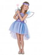 Déguisement fée violette voile bleu fille