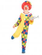 Déguisement clown à carreaux garçon