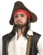 Perruque chapeau de pirate homme