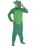 Déguisement crocodile vert adulte