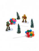 Kit de décorations gâteaux Tortues Ninja™ 6 pièces