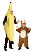 Déguisement de couple banane et singe père et fils
