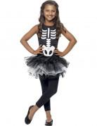 Déguisement squelette tutu noir fille Halloween