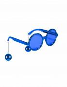 Lunettes bleues disco adulte