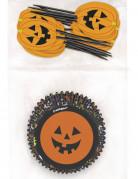 24 Moules à cupcakes et pics Halloween