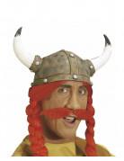Moustache rouge gaulois adulte