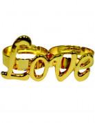 Vous aimerez aussi : Bague dorée Love adulte