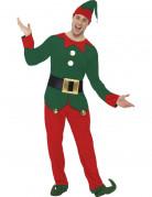 Déguisement elfe bicolore homme Noël