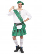 Déguisement Écossais vert et blanc homme
