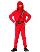 Déguisement ninja rouge étoiles garçon