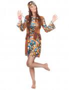 Déguisement hippie motifs ronds femme