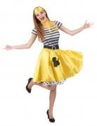 Vous aimerez aussi : Déguisement années 50 jaune Femme