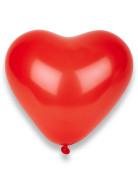100 Ballons coeurs rouges 32 cm