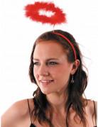Serre-tête auréole d'ange rouge adulte