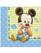 20 Serviettes en papier Bébé Mickey ™ 33 x 33 cm