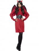 Déguisement diablesse rouge et noire femme Halloween