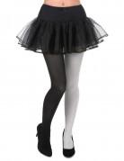 Collants bicolore noir et blanc adulte
