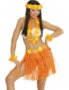 Kit hawaïen orange et jaune adulte