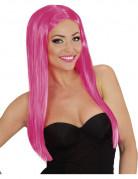 Perruque longue glamour rose femme