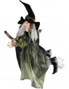 Décoration sorcière volante sur balai 100 cm halloween