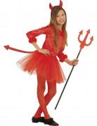 Déguisement petite diablesse rouge tutu fille Halloween
