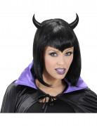 Serre-tête cornes noires adulte Halloween
