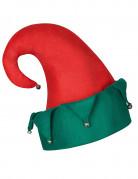 Chapeau lutin avec grelots Noël adulte