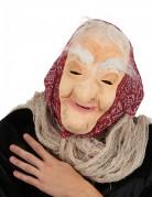 Masque vieille sorcière avec cheveux et foulard femme