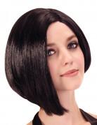 Perruque courte carré plongeant asymétrique femme