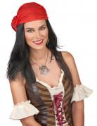 Perruque pirate avec bandana adulte