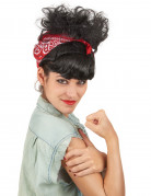 Perruque rétro avec foulard femme