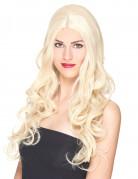 Perruque luxe blonde longue bouclée femme - 251g