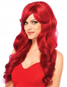Perruque luxe longue rouge femme
