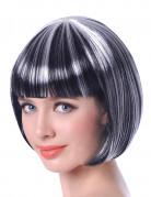 Vous aimerez aussi : Perruque carré court mêchée noir et blanc femme