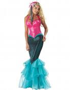 Déguisement Sirène bleue et rose pour femme - Premium