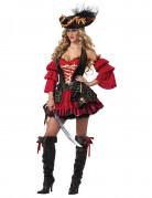 Déguisement Pirate rouge pour femme - Premium