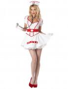 Déguisement Infirmière zip corset sexy femme