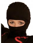 Cagoule ninja noire enfant